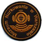 Naszywki Muzeum Nurkowania w Warszawie