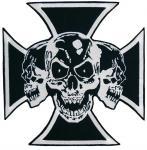 Naszywka krzyż i czaszki