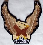 Haftowana naszywka motocyklowa Żuczek z orłem